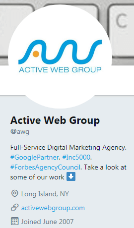 Active Web Group Twitter Account